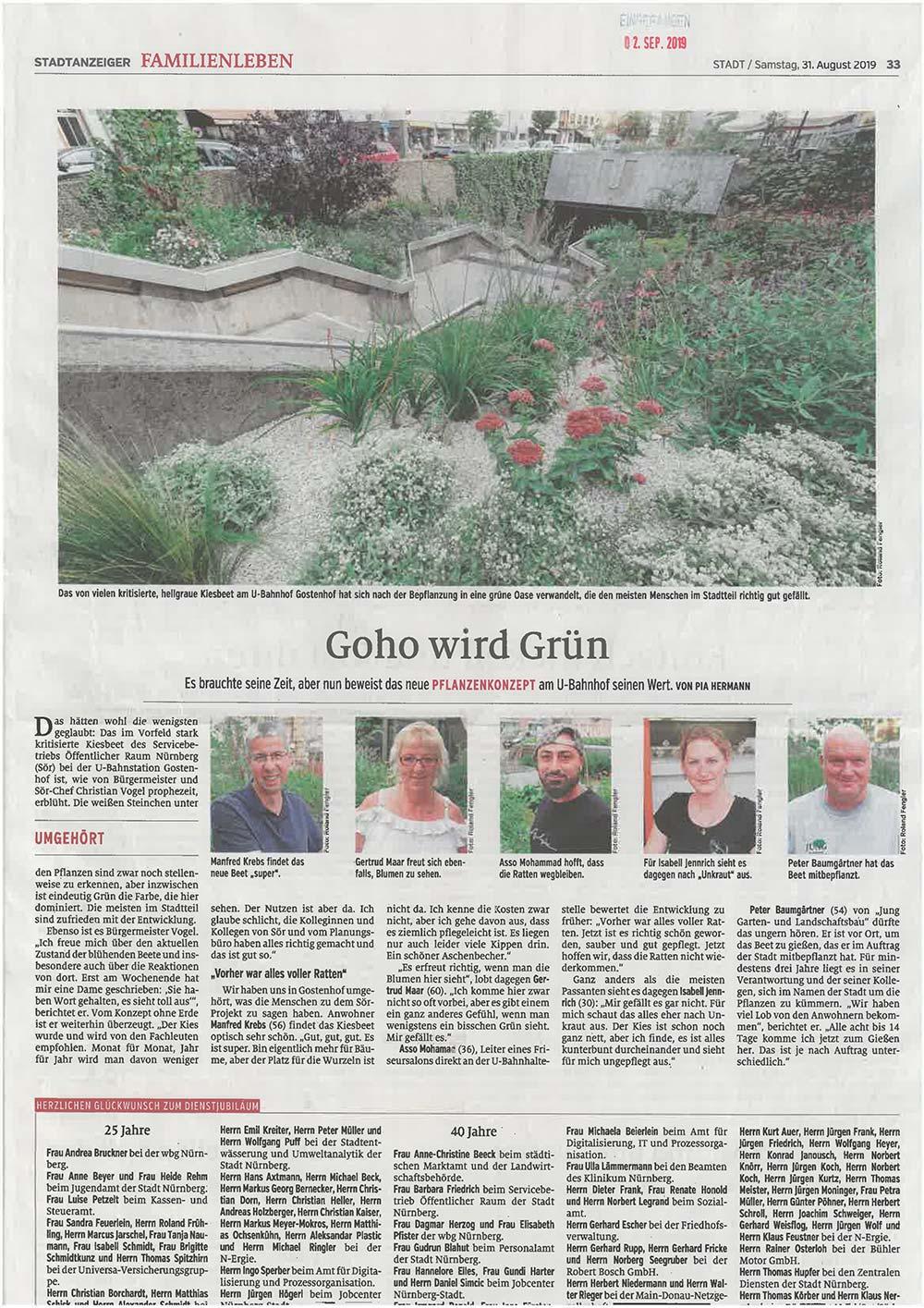 Neues aus der Tagespresse: Nürnberger Stadtanzeiger