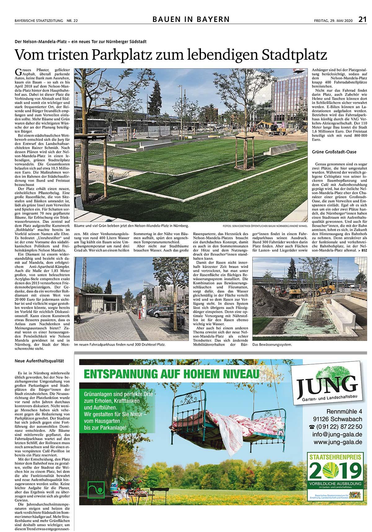 die Gärtner*innen von JUNG Garten-und Landschaftsbau schaffen eine neue Großstadt-Oase!
