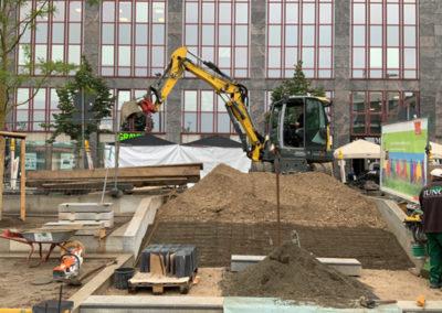 Baggerarbeiten in Nürnberg